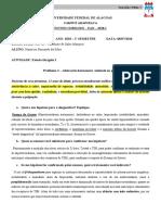 Estudo Dirigido 2 - Funções Vitais 1 ARA03