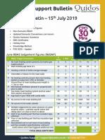 Quidos Technical Bulletin - 15th July 2019