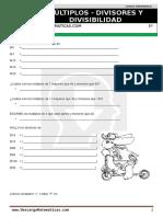 10 Múltiplos Divisores y Divisibilidad Quinto de Primaria