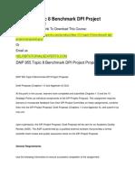 DNP 955 Topic 8 Benchmark DPI Project Proposal GCU