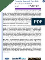 CapitalStars MCX Report 16 July 2019