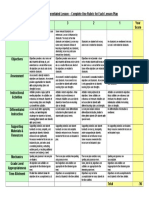 Evaluation of Differentiated Lesson Rubric 2007