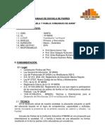 Plan Anual de Escuela de Padres 2015