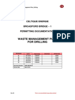 waste management for drilling