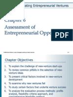 Chp 6 Assessment of Entrepreneurial Opportunities