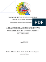A PRACTICE TEACHING NARRATIVE OF EXPERIENCE IN OFF CAMPUS INTERNSHIP.docx