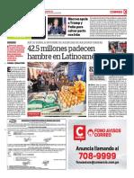 42,5 Millones Padecen Hambre en Latinoamérica