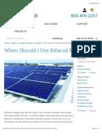 When Should I Use Bifacial Modules? | CivicSolar