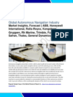 """Autonomous Navigation Market Gross Margin, Attractiveness, Competitive Landscape and Key Players - are ABB, Honeywell International, Rolls-Royce, Kongsberg Gruppen, Rh Marine, Trimble, Furuno, Safran, Thales, General Dynamics, L3 Technologies, Northrop Grumman, Raytheon, Rockwell Collins, Moog, and brief information of 5 more companies provided in the report. , etc."""