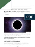 O Estranho Objeto Encontrado Pela Nasa Próximo a Um Buraco Negro - BBC News Brasil