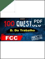 100 Questões de Direito Do Trabalho - Fcc- Antonio Do Tribunal