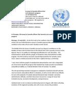 In Kismayo, UN envoy to Somalia affirms that terrorist acts won't derail Jubaland's progress