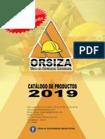 Catálogo ORSIZA 2019