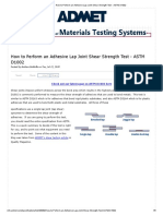 How to Perform an Adhesive Lap Joint Shear Strength Test - ASTM D1002