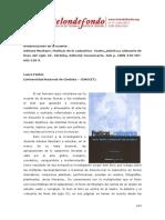 Adriana Musitano Poeticas de Lo Cadaverico Teatro Plastica y Videoarte de Fines Del Siglo Xx Cordoba Editorial Comunicarte 360 p Isbn 978 987 602 120 3