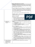 Summary of Principles of Taxation