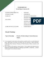 Second Report -Harshini.k (PGD18045).docx