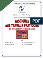 Fascicule TP_Echangeur de Chaleur
