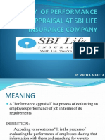 STUDY  OF PERFORMANCE APPRAISAL AT SBI LIFE INSURANCE.pptx