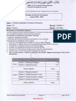 Examen de Fin de Formation 2012 Tsge Synthese 2
