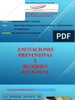 Anotaciones Preventivas y Bloqueo Registral Hoy