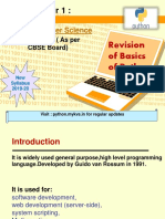 Revision of the Basics of Python