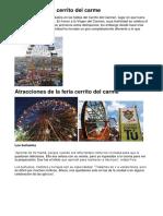 Origen Del Feria Cerrito Del Carme