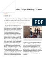 Amazigh Children's Toys and Play Cultures - Jean-Pierre Rossie