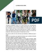 Informacion de Moda
