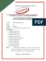 Trabajo Colaborativo II Unidad de Derecho Comercial II Grupo Nº 1
