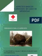ASPECTOS BASICOS de atención  EN CASO DE URGENCIAS