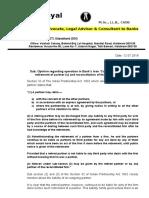 Opinion Reg Reconstitution Ofpartnership