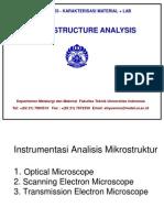 KarakterisasiMaterial Micro Structure Analysis