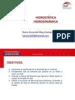 HIDROSTATICA HIDRODINÁMICA