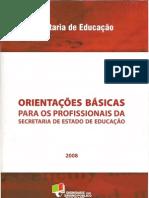 Orientações Básicas para os Profissionais da SEDUC