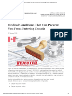 Medical Conditions That Can Prevent You From Entering Canada