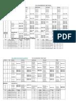 Civil Engineering Timetable 2019