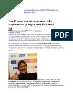 11 mentiras más comunes de los emprendedores según Guy Kawasaki.docx