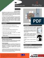 FireTecnus - Protecta Graphite Plate - Fiche Technique
