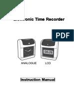 Manual Reloj Marca Tarjeta