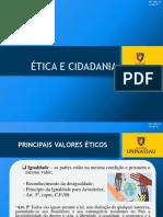 ÉTICA E CIDADANIA - PRINCÍPIOS ÉTICOS