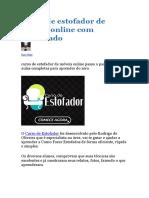 Curso de Estofador Online com Certificado