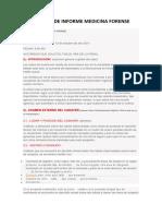 Modelo de Informe Medicina Forense
