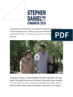 Stephen Daniel for Congress - TX-06 - Id Like to Introduce Myself