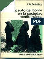 Peristiany, J.G. - El Concepto Del Honor en La Sociedad Mediterránea