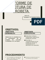 Informe de Rotura de Probeta