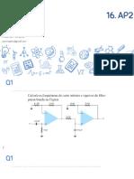 Eletrônica Analógica - 16. Avaliação AmpOp