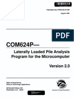 Laterally Loaded Pile Analysis Program for the Microcomputer
