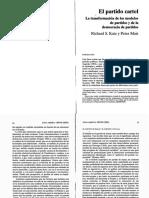Katz, Richard y Peter Mair_El Partido Cartel. La Transformación de Los Modelos de Partidos y de l