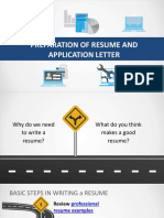 Resume and Application Letter